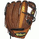 pWilson A2k Baseball glove for Dustin Pedrioa. H Web. Walnut leather from his original DP15, paired with the classic orange tan pro stock select leather./p