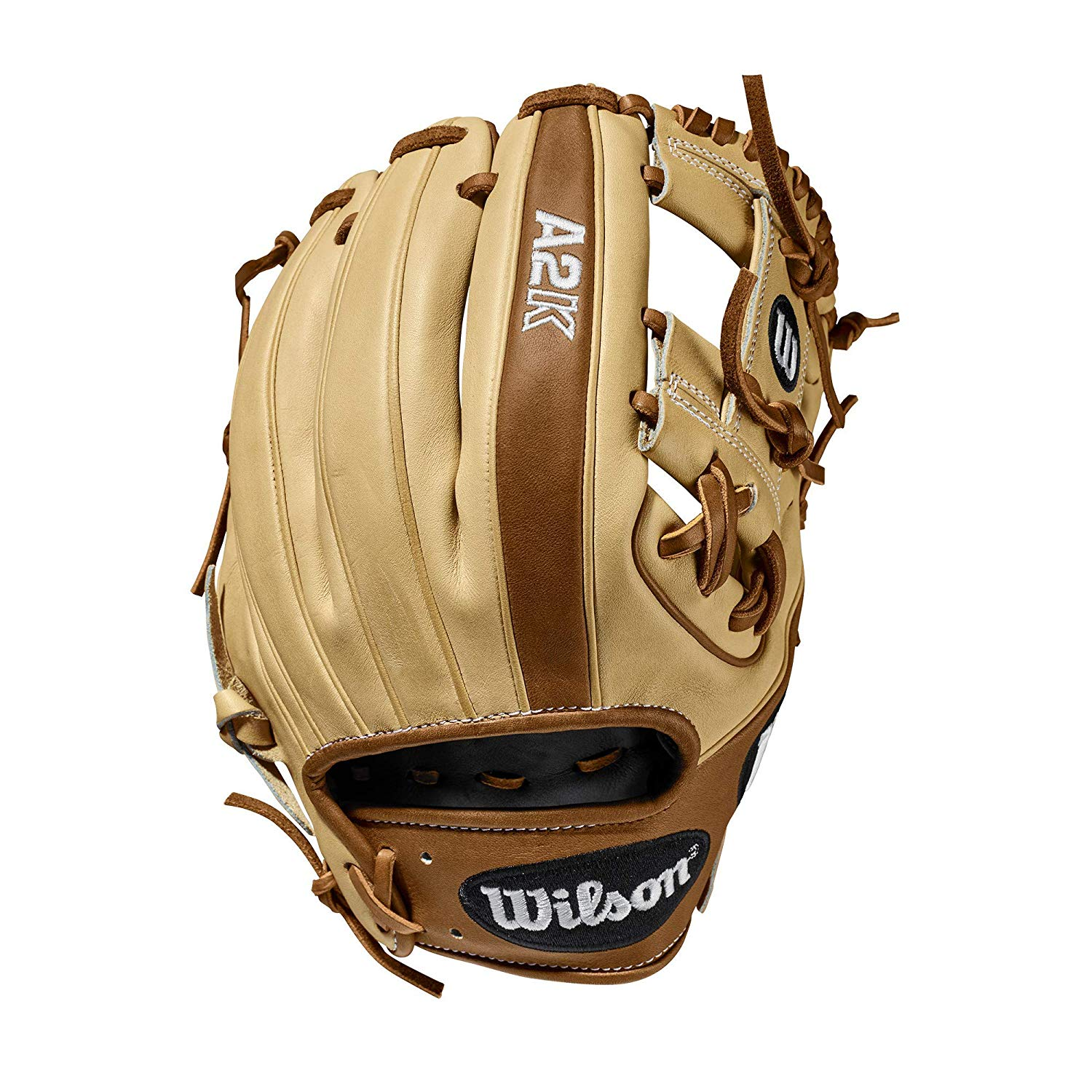 H-Web Design and three times more shaping to help reduce break-in time Blonde and Saddle Tan Pro Stock Select Leather, chosen for its consistency and flawlessness Rolled Dual Welting for long-lasting shape and quicker break-in Double Palm Construction providing maximum pocket stability.