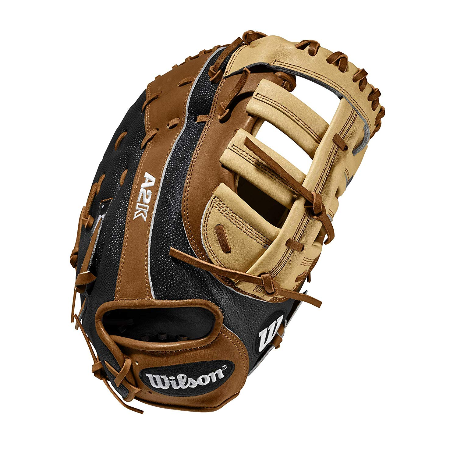 wilson-a2k-rb20-2820ss-first-base-mitt-12-25-right-hand-throw WTA2KRB202820SS-RightHandThrow Wilson 887768829759 Conventional w/ Open Back Web and three times more shaping to