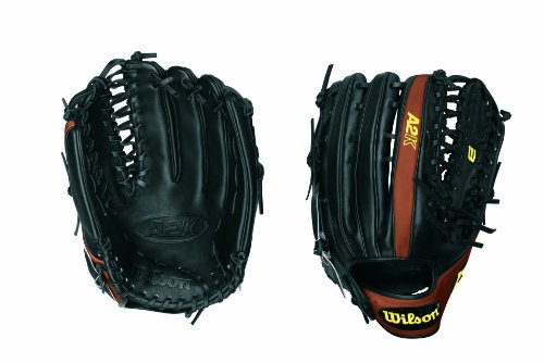 Wilson A2K OT6 12.75 Outfield Six Finger Web 2x Palm Open Back Baseball Glove. The A2K has been further refined for perfection in 2012. Our most premium glove model - All the A2K's features work together to provide the same core benefit - a truly long lasting glove that breaks in as quickly as possible.All new model to the Wilson lineup - features a one-piece, six finger palmweb. Perfect for outfielders looking for a longer glove with more feel and less rebound. Plays great with two fingers in the pinky stall.