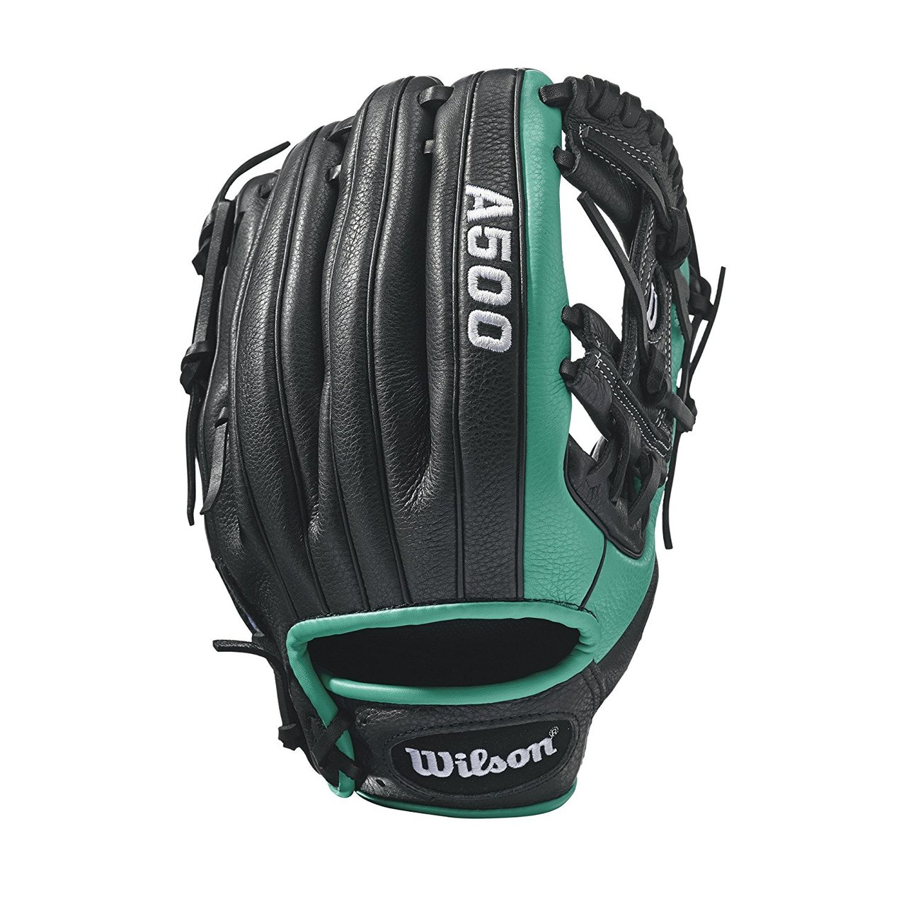 A500 RC22- 11.5 Wilson A500 RC22 Baseball GloveA500 Robinson Cano 11.5 Baseball Glove- Right Hand Throw A500 Robinson Cano 11.5 Baseball Glove- Left Hand Throw WTA05RB17115 WTA05LB17115 Designed for youth players, this A500 11.5 model replicates Robinson Cano's Game Model A2000 RC22 glove in Black and Mariner's Green. It features an H-Web and maintains a shallow pocket perfect for all positions.The A500 is the lightest all-leather glove on the market. The glove's top-grain leather provides a flexible, ready-to-play feel that performs without the extra weight of other leather gloves. 11.5 H-Web Replica of Robinson Cano's Game Model glove, the A2000 RC22 GMGame-ready top grain leather shell provides all the feel without the wieght2x Palm Construction to reinforce the pocketDual WeltingTM for a durable pocketThe lighest all-leather glove on the market UtilityBoth10.75 h-web Game Ready Top Grain LeatherA500 1786 Showtime 11.5 Pedroia Fit Bandit 1786A1074 Wilson Players Video