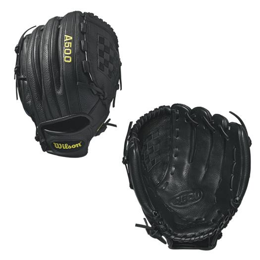 wilson-a500-baseball-glove-12-inch-black-right-hand-throw A05RB1712-RightHandThrow Wilson 887768498870 A500 - 12.5 Wilson A500 12.5 Baseball Glove A500 12.5 Baseball