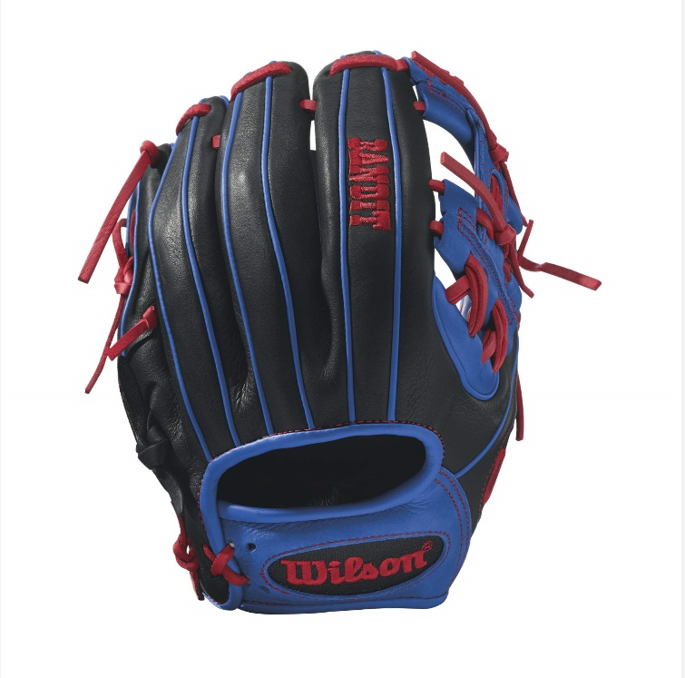 wilson-bandit-1786-baseball-glove-11-5-inch-blackroyalred-right-hand-throw A12RB171786-RightHandThrow Wilson 887768498474 Bandit 1786 - 11.5 Wilson Bandit 1786 Infield Baseball GloveBandit 1786
