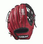 Bandit 1786 Pedroia Fit - 11.5 Wilson Bandit 1786 Pedroia Fit Infield Baseball GloveBandit 1786 Pedroia Fit 11.5 Infield Baseball Glove- Right Hand Throw WTA12RB171786PF The 1786 11.5 Bandit infield glove is made with red Soft Full-Grain Steerhide leather, an H-web and is perfect for the young travel infielder. It comes with Pedroia Fit for a snugger feel that many infielders enjoy. Using some of Wilson's most popular color palettes, the Bandit is the glove for the young travel ballplayer who likes a little style to go along with his on-the-field substance. Its soft full-grain steerhide brings the perfect balance of minimal break-in and outstanding durability.11.5 Infield Model H-web Soft Full-Grain Steerhide Leather Pedroia FitInfieldRHT 11.5 H-Web Soft Full-Grain Steerhide Leather Bandit 1786 Bandit 1786A2000 T-ShirtGlove Care Kit Aso-San Glove Mallet Aso breaks in Brandon Phillips Glove