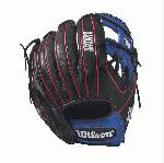 Bandit 1788 - 11.25 Wilson Bandit 1788 Infield Baseball GloveBandit 1788 11.25 Infield Baseball Glove - Right Hand Throw WTA12RB171788PF The 1788 11.25 Bandit infield glove is made with black, red and blue Soft Full-Grain Steerhide leather, an H-web and is perfect for the young travel infielder. It comes with Pedroia Fit for a snugger feel that many infielders enjoy.Using some of Wilson's most popular color palettes, the Bandit is the glove for the young travel ballplayer who likes a little style to go along with his on-the-field substance. Its soft full-grain steerhide brings the perfect balance of minimal break-in and outstanding durability.11.25 Infield Model H-web Soft Full-Grain Steerhide Leather Pedroia Fit InfieldRHT 11.25 H-Web Soft Full-Grain Steerhide Leather A1K 1788Bandit 1786 Pedroia FitA2000 T-ShirtGlove Care Kit Aso-San Glove Mallet Aso breaks in Brandon Phillips Glove