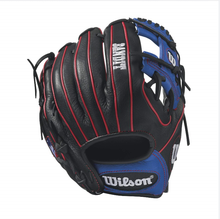 wilson-bandit-1788-pedroia-fit-baseball-glove-11-25-inch-blackroyalred-right-hand-throw A12RB171788PF-RightHandThrow Wilson 887768498450 Bandit 1788 - 11.25 Wilson Bandit 1788 Infield Baseball GloveBandit 1788