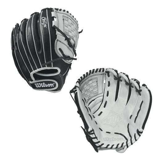 wilson-onyx-cat-web-fastpitch-glove-12-blackwhite-right-hand-throw A12RF1712-RightHandThrow Wilson B01IKRBW2E ONYX FP 1275 - 12.75 Wilson Onyx FP 1275 Outfield Fastpitch