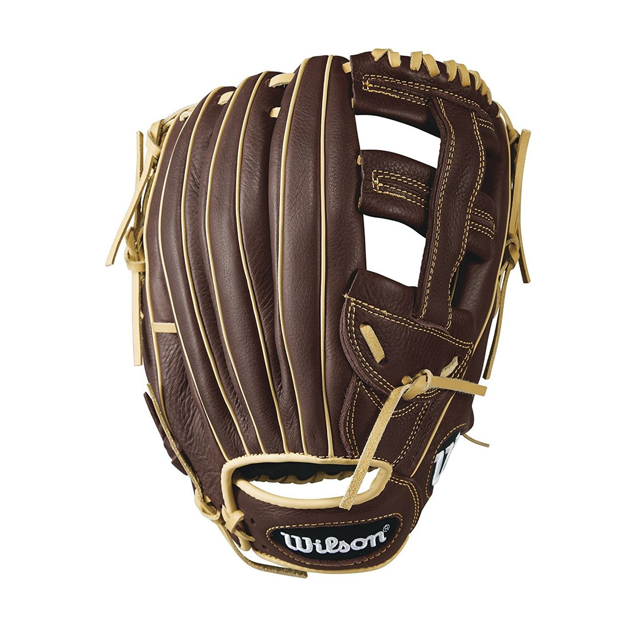wilson-showtime-slowpitch-glove-softball-glove-13-right-hand-throw A08RS1713-RightHandThrow Wilson 887768498788 Single post web Double palm construction to reinforce the pocket Full