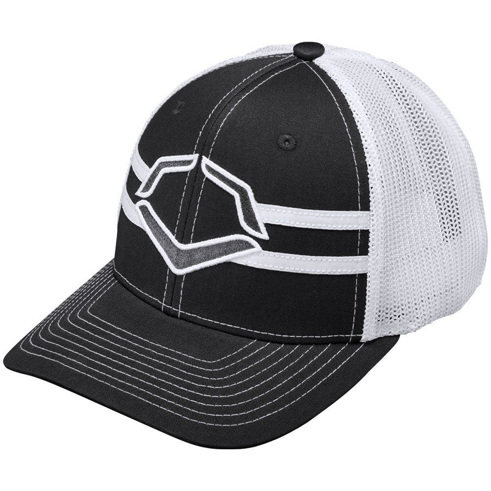wilson-sporting-goods-evoshield-grandstand-flexfit-hat-charcoal-white-large-x-large-7-3-8-7-5-8 WTV1035344010LGXL Wilson y 56% Polyester42% Cotton2% SPANDEX Imported Flex-fit style trucker hat Breathable White
