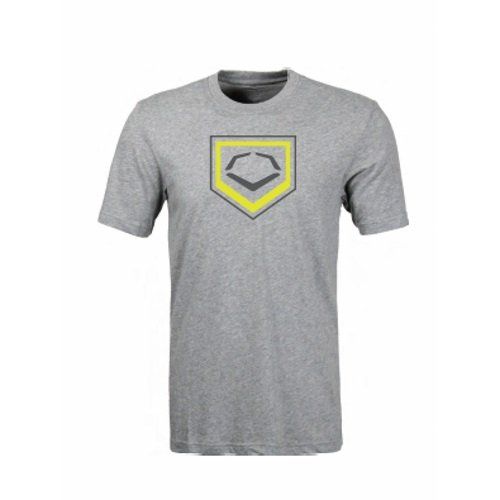 wilson-sporting-goods-evoshield-mens-home-plate-flash-t-shirt-heather-grey-small 1035210.060.S Wilson y This loose fit performance graphic t-shirt represents the cornerstone to Americas