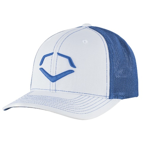wilson-sporting-goods-evoshield-royal-steed-stripe-mesh-flexfit-hat-white-royal-large-x-large-7-3-8-7-5-8 WTV103642042OLGXL Wilson y EvoShields Speed Stripe Mesh Flex Fit Hat offers a breathable mesh