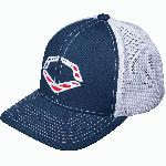 56% Polyester42% Cotton2% SPANDEX ul lispan class=a-list-item Imported /span/li lispan class=a-list-item Navy flex-fit style trucker hat /span/li lispan class=a-list-item Evoshield logo with American flag backdrop on front /span/li lispan class=a-list-item Breathable White mesh back /span/li lispan class=a-list-item Pre-formed bill and flex fit band for ultimate comfort fit /span/li lispan class=a-list-item Available in: s-m (7 - 7 14) and l-xl (7 38 - 7 58) /span/li /ul