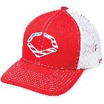 wilson sporting goods evoshield usa snapback trucker hat red