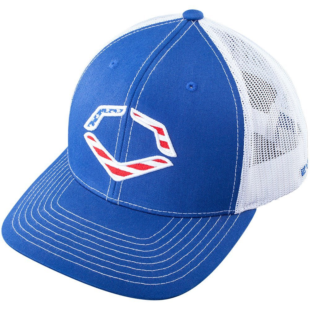 wilson-sporting-goods-evoshield-usa-snapback-trucker-hat-royal-white WTV10343204300SFM Wilson y 53% Polyester47% Cotton Imported Breathable mesh back to keep you cool
