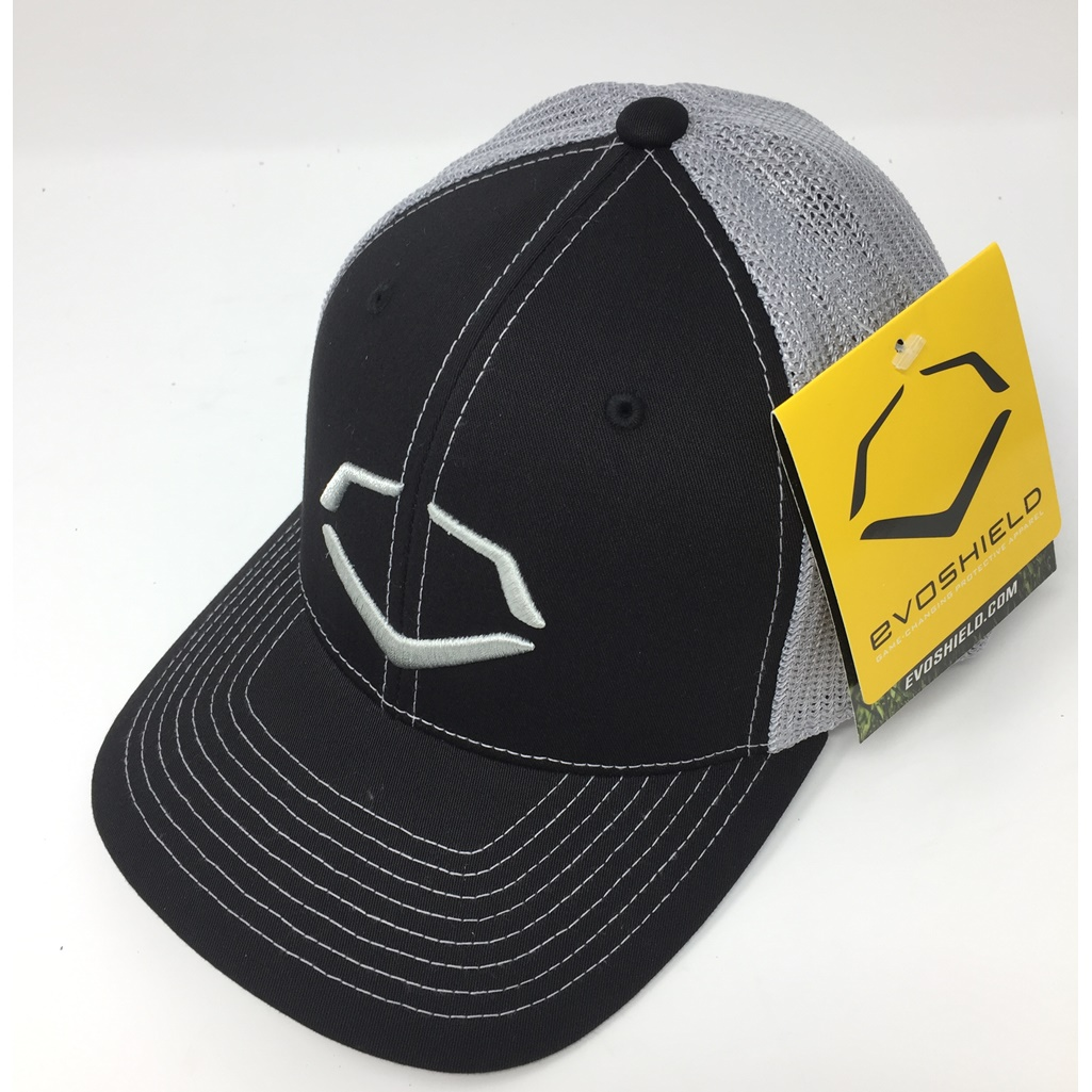 wilson-sporting-goods-unisex-evoshield-steed-stripe-mesh-flexfit-hat-large-xl WTV103638003LGXL Wilson 840041120240 6% Polyester/42% Cotton/2% SPANDEX Imported Flex-fit trucker hat Embroidered logo on