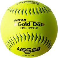 worth 12 pro comp super gold dot pro m softballs 1 dozen