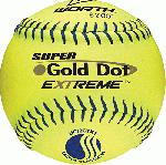 worth gold dot extreme classic m usssa 12 inch softballs leather 1 dozen uc12cyxt