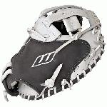 Worth Liberty Advanced Catchers Mitt Fastpitch Softball Glove 34 inch LACMGW (Right Hand Throw) : Worths most popular Fast pitch Softball Glove line, the Liberty Advanced Series, set the standard for elite softball players. Designed for longevity, game-readiness and on-field performance, these gloves feature pro soft shell leather and linings, and USA Pro Grade-tanned laces. The palm lining and outer shell are constructed of the same leather to enhance consistent break-in for the perfect pocket. Most models include custom-fit hand adjustments and cushioned finger backs for a more secure fit and better glove control. Double-tanned shell leather and USA-tanned pro lace provide unmatched durability Full-grain cushioned finger back linings for added comfort Custom-fitted pull straps for easy hand adjustments Poron XRD palm and index finger pads significantly reduce ball impact for greater protection 34 Fastpitch Catcher's Pattern Pro H Web  Custom-fit, adjustable, non-slip pull strap back.