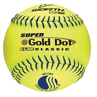 http://www.ballgloves.us.com/images/worth super gold dot classic m 12 inch slowpitch softballs 1 dozen