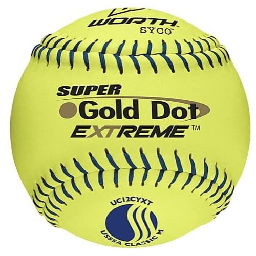 worth-super-gold-dot-extreme-classic-m-usssa-slow-pitch-softballs-1-dozen UC12CYXT-1DOZ   <span>Worth Softballs...Designed For Reliability In Any Condition! Worth Super Gold Dot