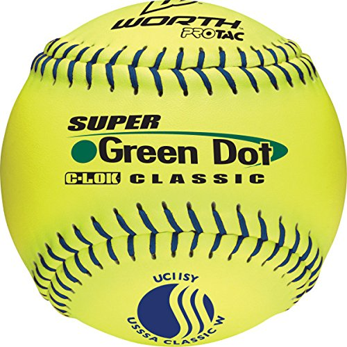 worth-usssa-11-inch-slowpitch-softballs-classic-w-protac-1-dozen UC11SY  043365024632 11 Inch Slowpitch Softball USSSA Classic W Classification Poly-X Core Pro